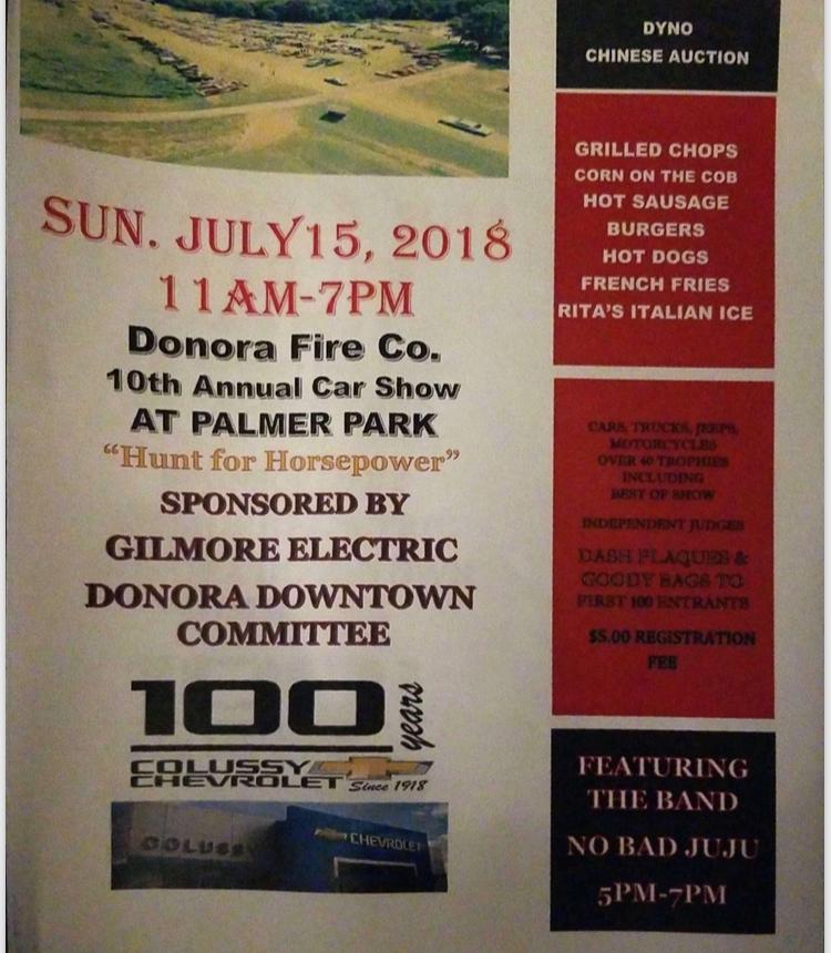 Donora Fire Co  10th Annual Car Show – Rhino Dyno, LLC – Detroit